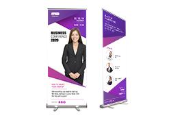 "Indoor Banner with Retractable Stand 33"" wide"